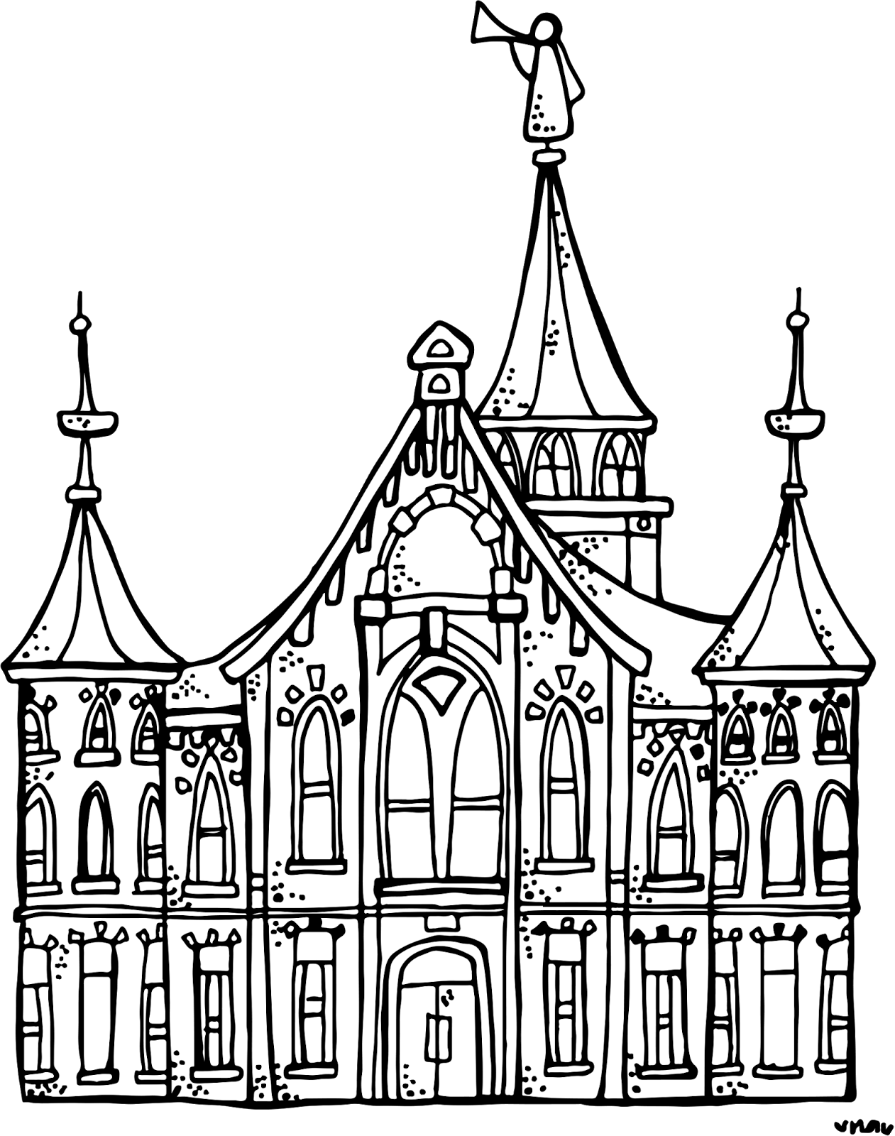 Melonheadz LDS illustrating: Provo City Center Temple :)