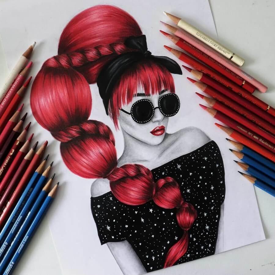07-Milica-Pencil-Portraits-www-designstack-co