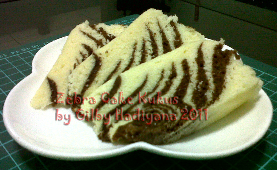 Gilby's Cake And Cookies: Zebra Cake Kukus