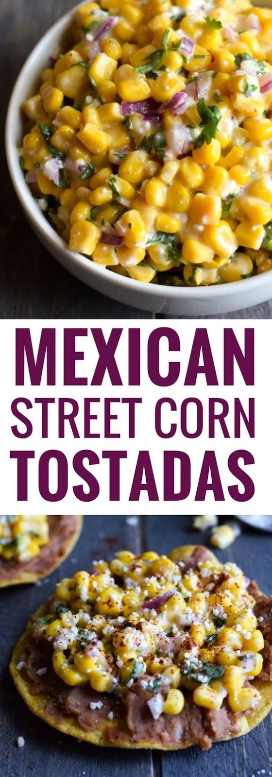 Mexican Street Corn Tostadas #mexicanfood #mexican #corn #tostadas #veggies #vegetarian #vegetarianrecipes