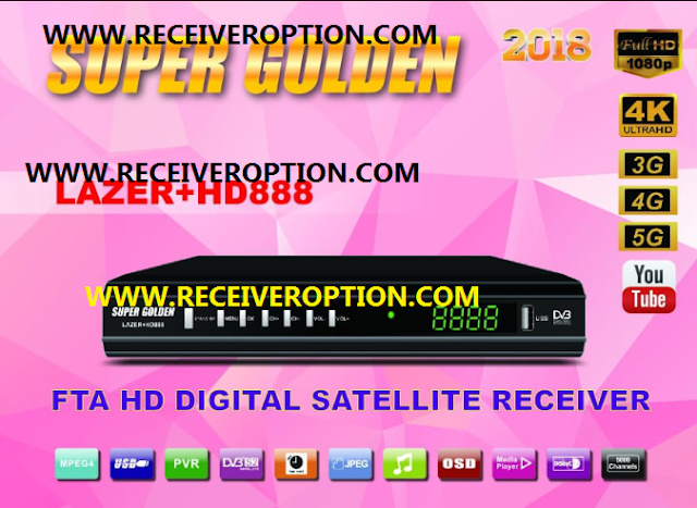 SUPER GOLDEN LAZER+HD888 RECEIVER 2018 POWERVU KEY NEW SOFTWARE