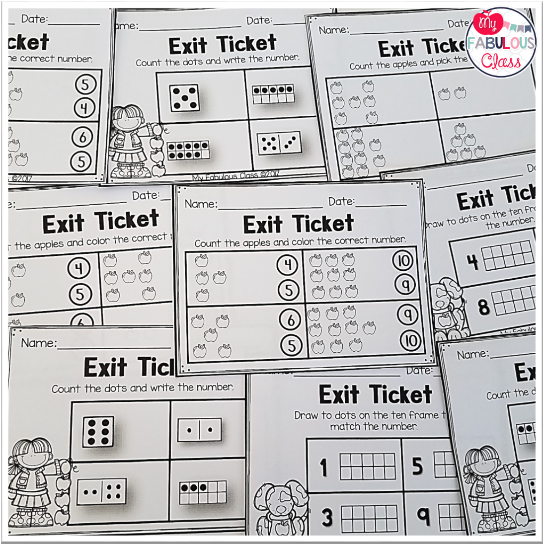image regarding Exit Tickets Printable referred to as My Amazing Cl: Set up Exit Tickets
