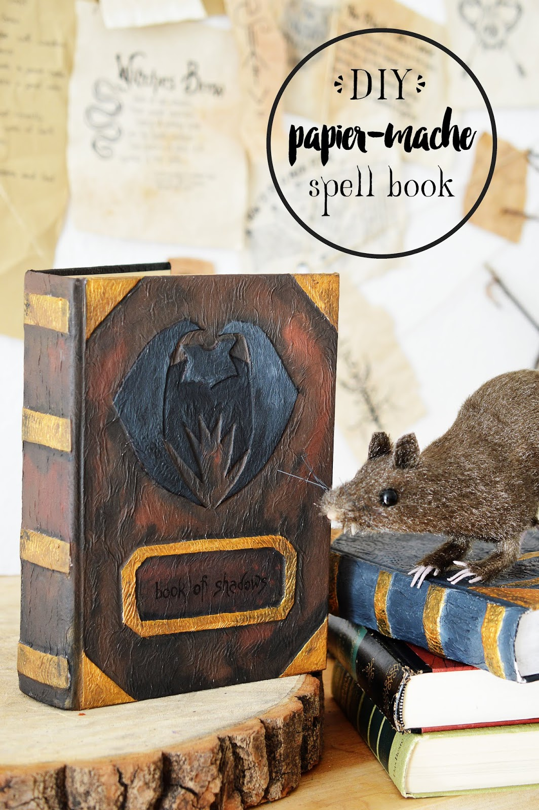 DIY Papier-Maché Spell Book, Motte's Blog