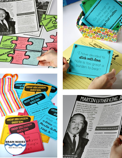 Teach students all about Martin Luther King, Jr. with this set of fun and engaging lessons!