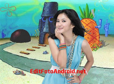 "Cara Edit Foto Background Ala Spongebob ""BlKINI BOTTOM"" Lucu"