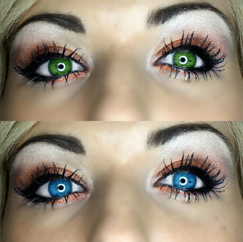 Gemischte Augenfarbe