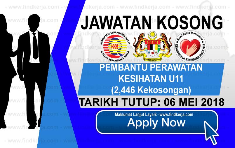 Jawatan Kerja Kosong KKM - Kementerian Kesihatan Malaysia logo www.findkerja.com mei 2018