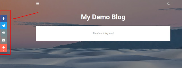 now your blog will have share buttons