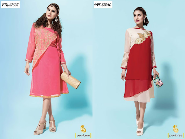 Fancy short party wear kurtis tunic 2016 for modern girls