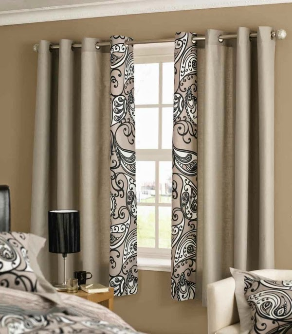 modern bedroom curtain ideas curtains with patten like pillows