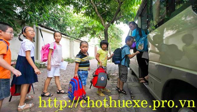 Cho thuê xe đưa đón học sinh chất lượng tại Hà Nội