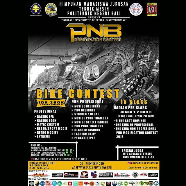 Bike Contest PNB Modifocation 2018 di Bali