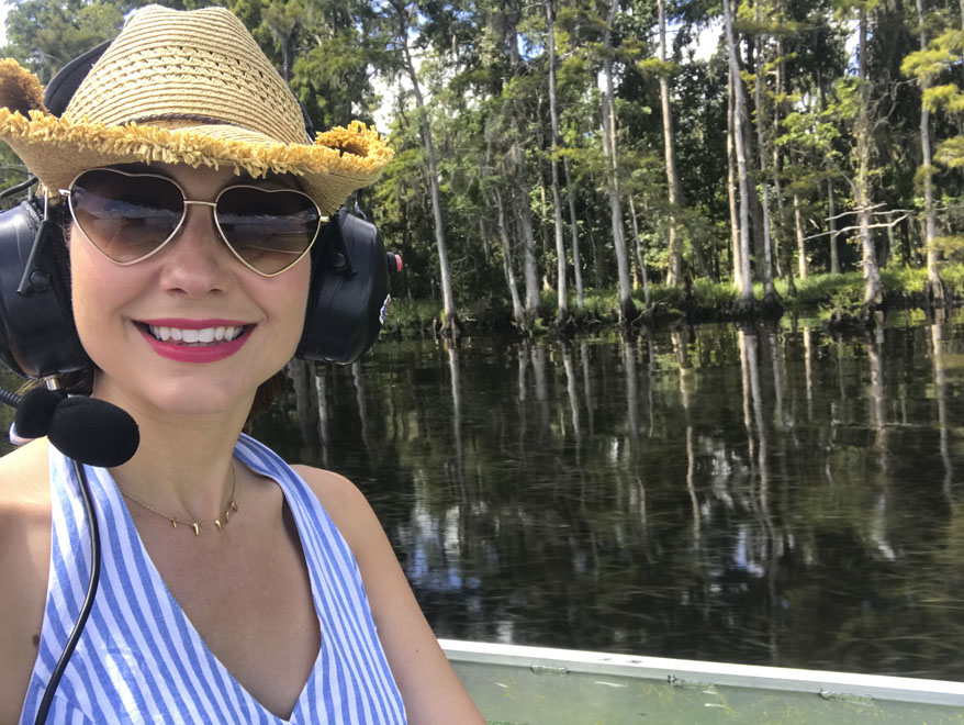 Amy West on the St Johns River