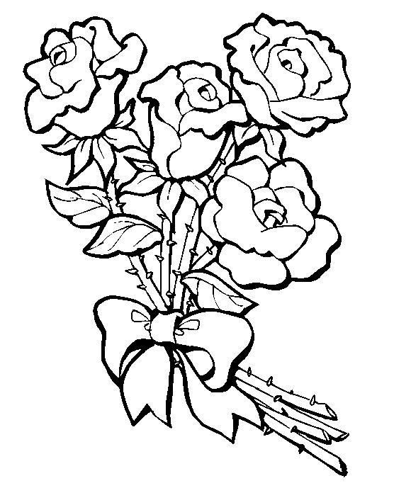 Rosas Para Colorear Dibujos Para Colorear Y Pintar Gratis