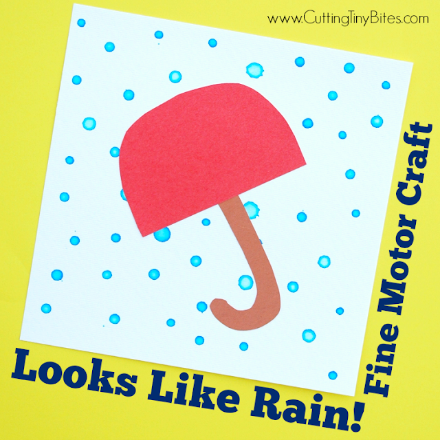 EASY kids craft to develop fine motor skills by using an eye-dropper to make rain drops. Fun for toddlers or preschoolers!