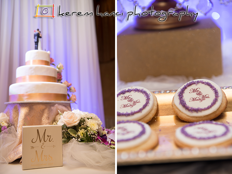 Here is a shot of The Wedding Cake and a detail shot of the sweets table.