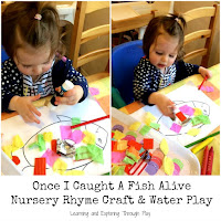 Nursery Rhyme Crafts - Once I caught a Fish alive