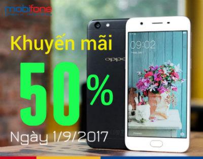 Mobifone khuyến mãi ngày 1/9/2017
