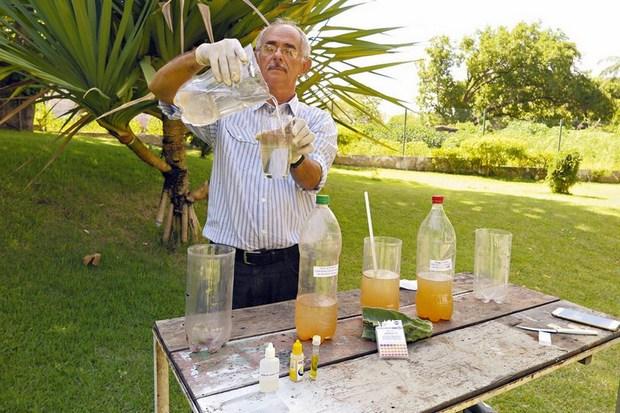 Técnica inovadora faz limpeza de água barrenta com o mandacaru