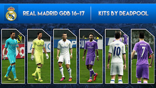 Real Madrid Kits 2016-2017 [OFFICIAL] Pes 2013 by DEADPOOL
