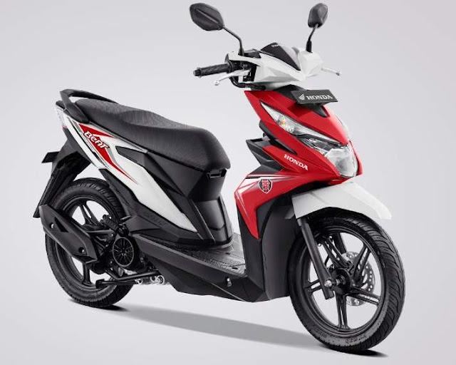 Warna Baru new Honda BeAT eSP White Red 2019