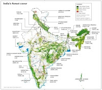 India's Forest Cover (Credit: downtoearth.org.in) Click to Enlarge.