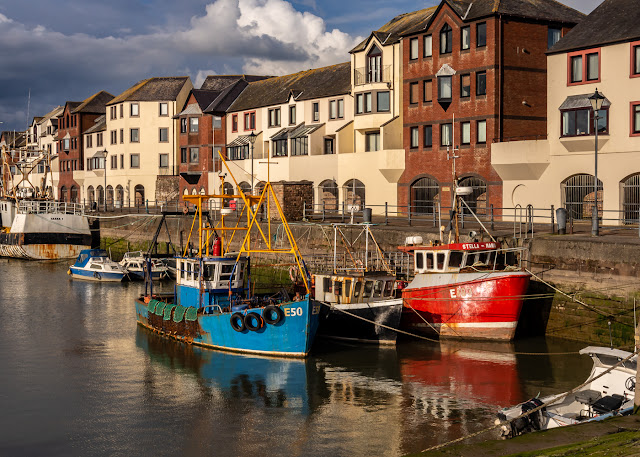 Photo of fishing boats in Maryport Harbour yesterday (Thursday) evening