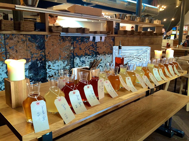 cider tasting at The Stable