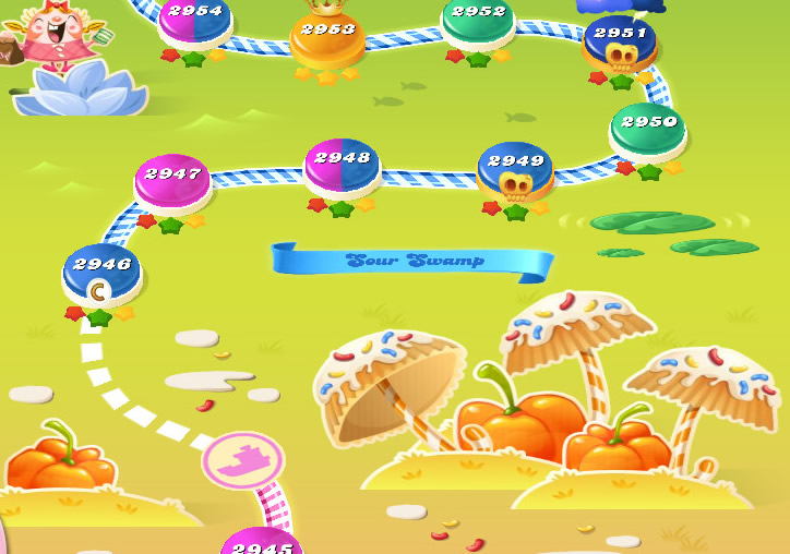 Candy Crush Saga level 2946-2960