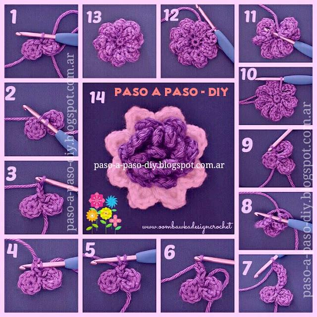 Cómo tejer una flor al crochet