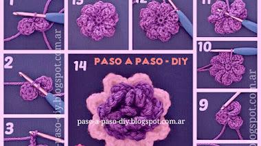 Flor al crochet - diy