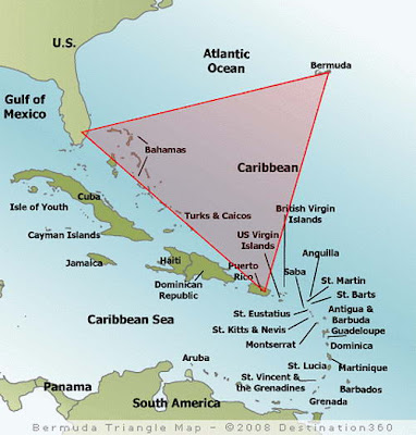 bermuda triangle map 10 Teori Tentang Misteri Segitiga Bermuda