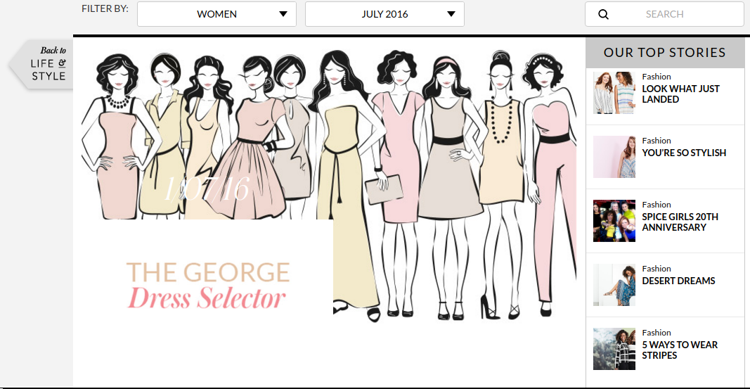 , Pick The Perfect Dress With The George Dress Selector