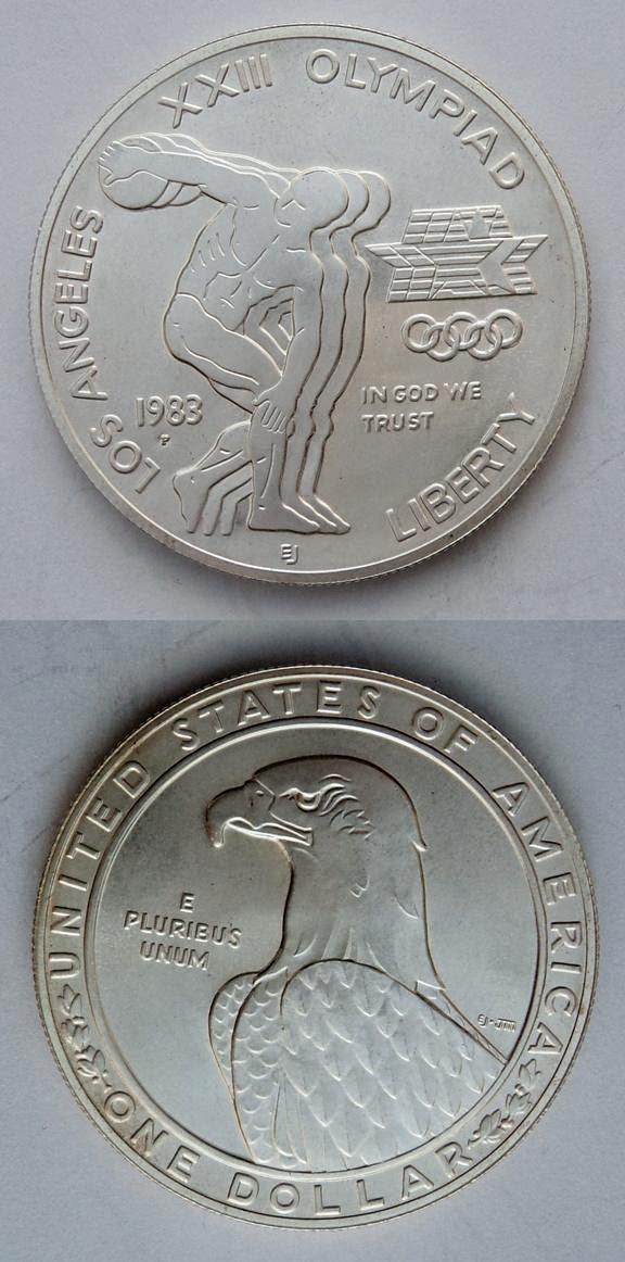 Moneda Juego Olimpicos Los Angeles 1984