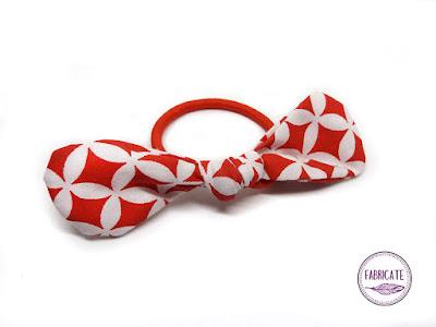 Gumeczka w czerwono biały wzór orientalny maroko