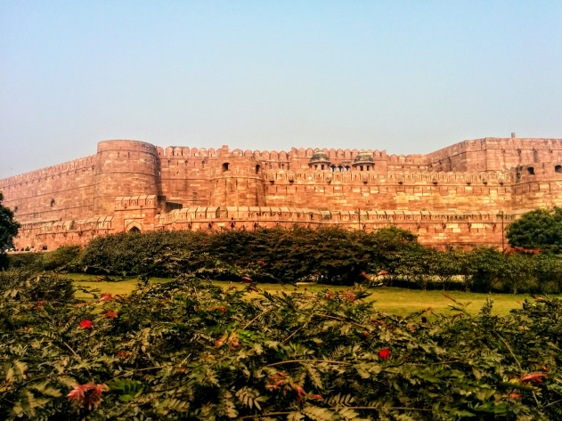 The mighty Red Fort of Agra