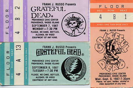 Grateful Dead, September 7, 8, and 9, 1987