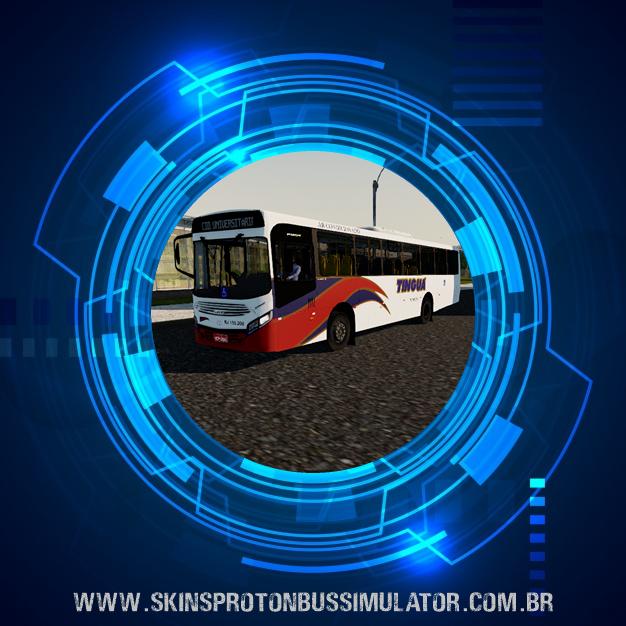 Skin Proton Bus Simulator - Caio Apache VIP IV MB OF-1721L BT5  Viação Tinguá