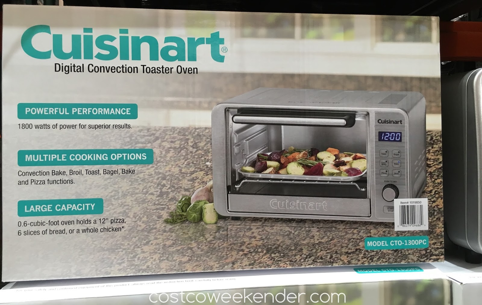 Cuisinart CTO 1300PC Digital Convection Toaster Oven   Powerful  Performance, Multiple Cooking Options,