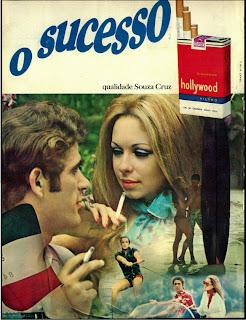 anúncio cigarros hollywood de 1970. Anúncio cigarros Carlton - 1970