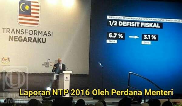 Laporan NTP 2016: Teks Ucapan Penuh Perdana Menteri @NajibRazak