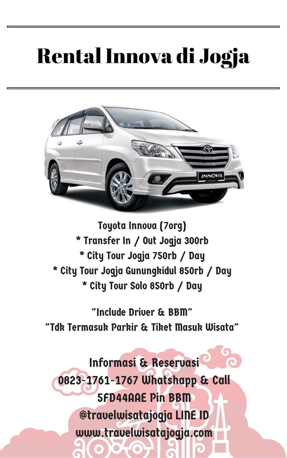 Rental Innova di Yogyakarta