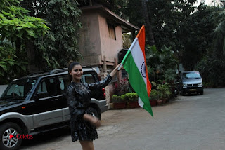 Bollywood Actress Model Urvashi Rautela Stills in Black Dress at Republic Day Celebrations  0014.jpg