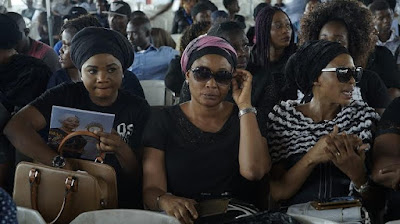 12 - Going on right now at LTV Blue roof in Ikeja is the memorial tribute even in honour of late Nollywood actress, Moji Olaiya.