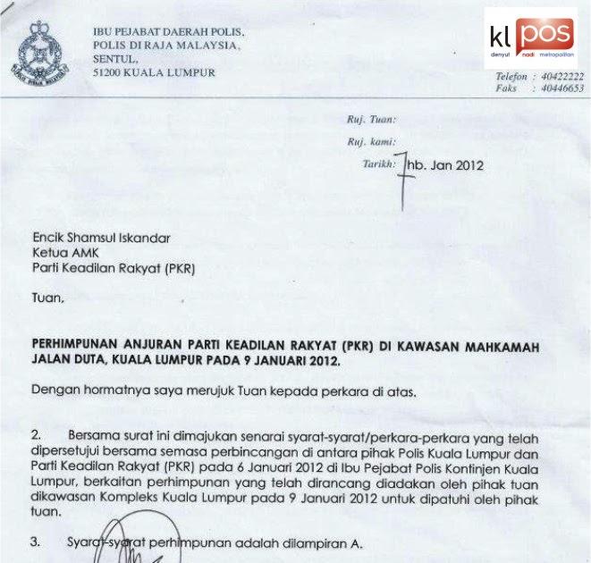 Surat Rasmi Tandatangan Bagi Pihak Kebaya Glamir