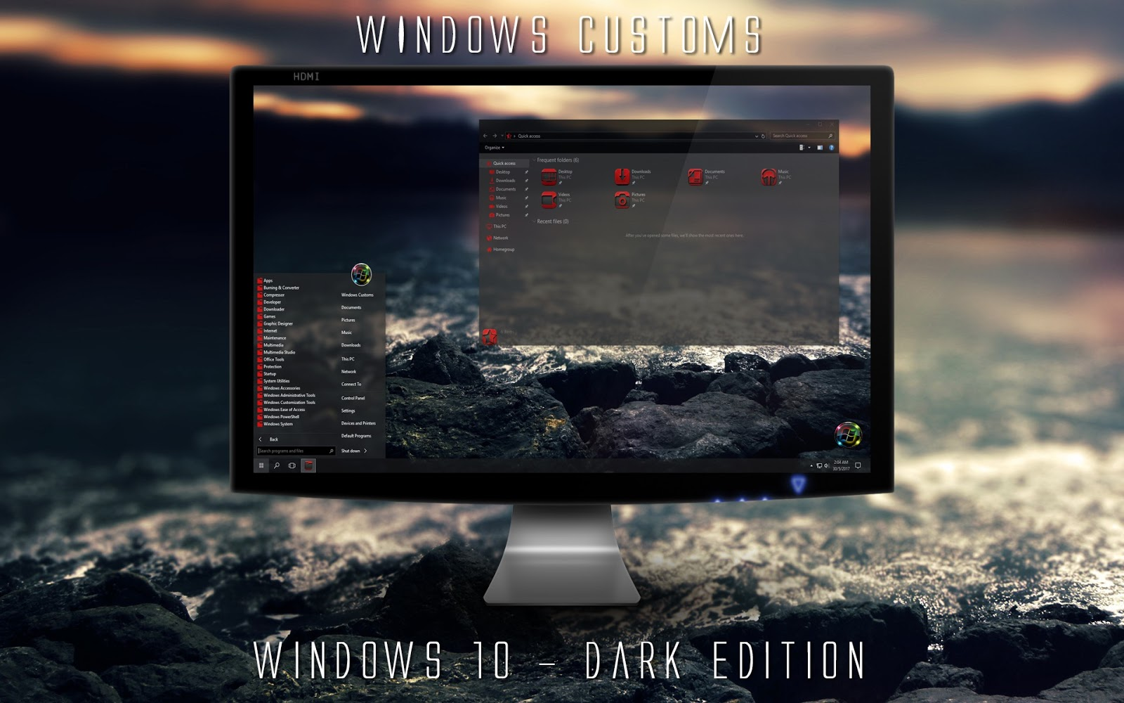 Windows Customs: Windows 10 - Dark Edition