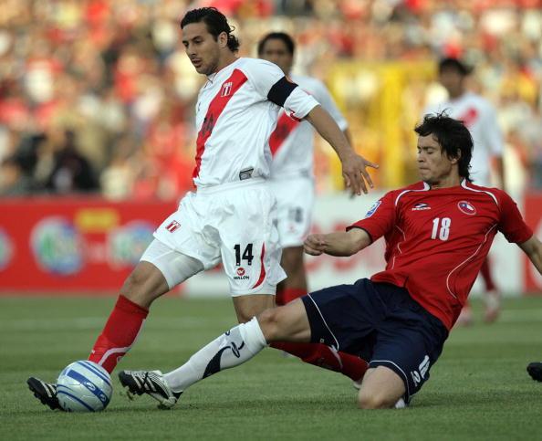 Chile y Perú en Clasificatorias a Sudáfrica 2010, 17 de octubre de 2007