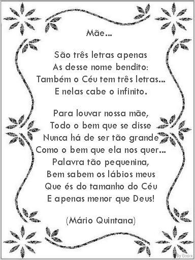 Poema e Poesias - Dia das Mães