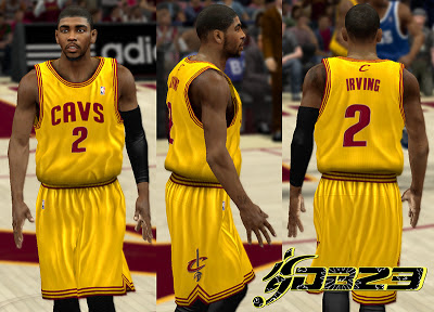 NBA 2K13 Cleveland Cavaliers Alternate Yellow Jersey Patch