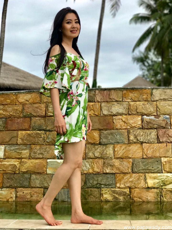 Yu Thandar Tin Beach Fashion Style Fun Shots At Chaung Thar Hotel